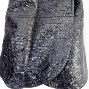 NEW BALENCIAGA Faux Leather Cottn PETAL Mini Skirt